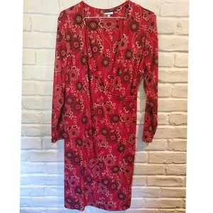 Believe plus 16W retro 60s faux wrap dress, red